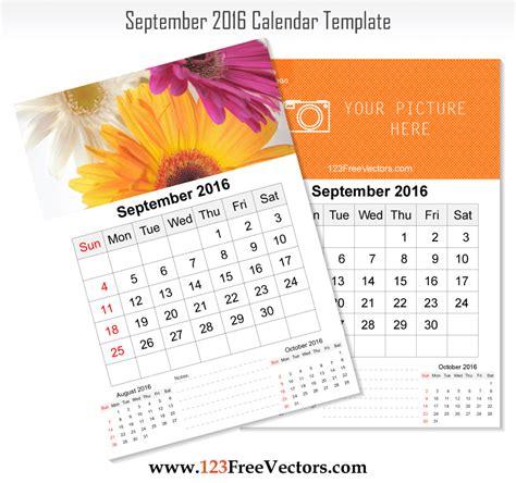 wall calendar template wall calendar september 2016 free vector