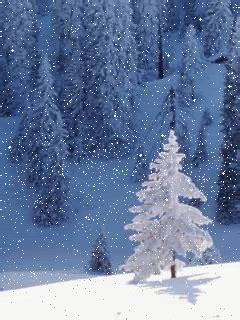 snow christmas tree snowing gif  gifer  gushicage