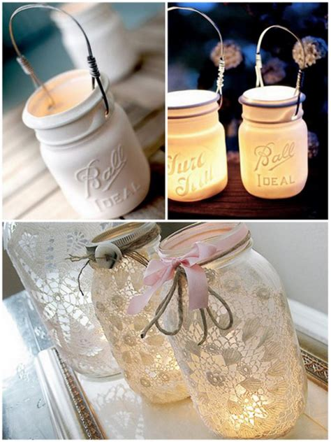 Chandelier Centerpiece Wedding Mason Jar Lanterns And Candle Holders For Magical Weddings