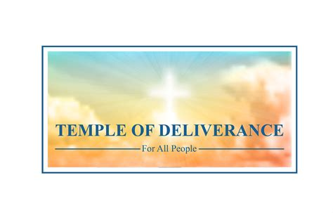 temple of deliverance professional serious church logo design for temple of deliverance for all by mt