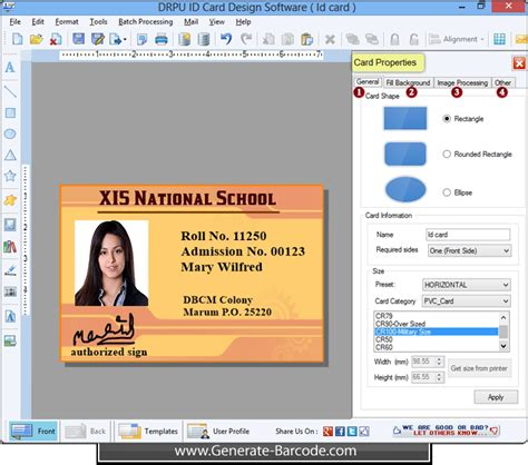 generate list of student id cards using mac student id id card design software creates student id cards