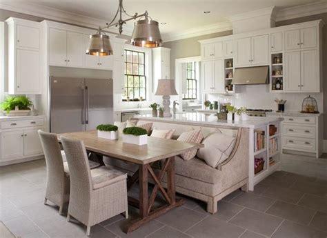 beautiful gourmet kitchen  gray walls sofa slate