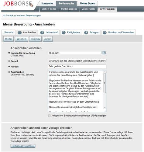 Anschreiben Bewerbung Muster Arbeitsagentur Bewerben Mit Der Jobb 246 Rse Der Arbeitsagentur