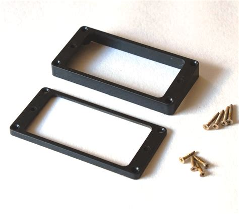 Black Humbucker Frame Mounting Rings Set For Les Paul Electric guitarslinger products aged lp mounting rings set black fits to les paul 174 purchase