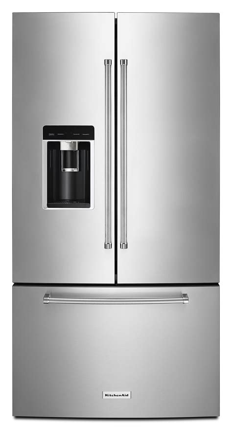 kitchenaid counter depth refrigerator with water dispenser kitchenaid krfc604fss 23 8 cu ft 36 quot counter depth
