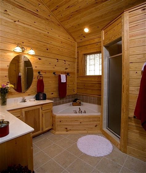 pictures of log home bathrooms | the log home guide