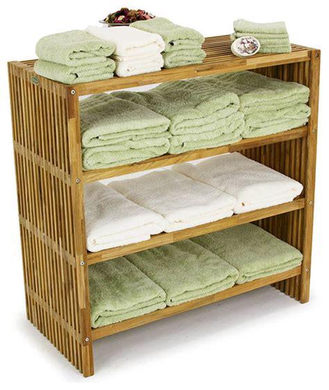 Bathroom Shelving For Towels Westminster Teak Towel Shelf Modern Bathroom Cabinets And Shelves Orange County By