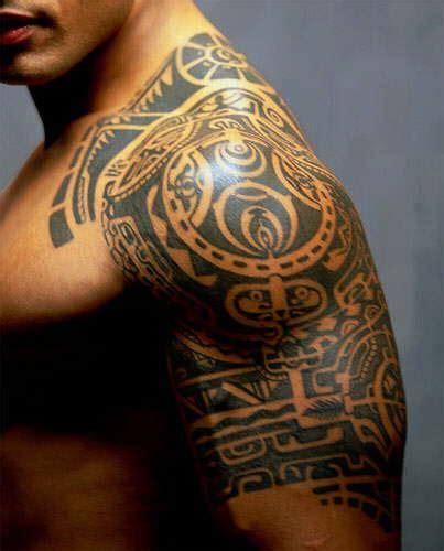 Rock wwe tattoos
