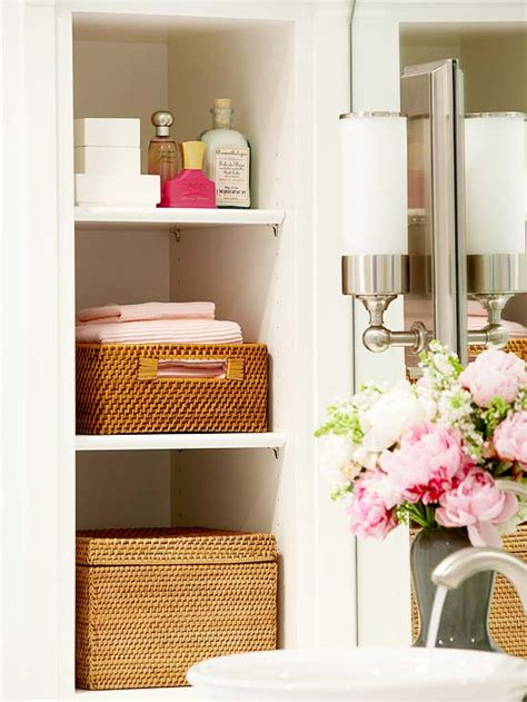 Baskets For Bathroom Storage Pretty Functional Bathroom Storage Ideas The Inspired Room