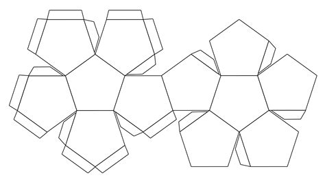 dodecahedron template file foldable dodecahedron blank jpg
