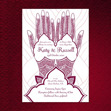 Free Mehndi Business Cards Template by Items Similar To Printable Mehndi Wedding Invitation