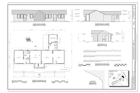 building floor plan detail and elevation view detail dwg file file first floor plan east elevation north elevation