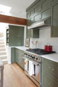 Green Kitchen Cabinet by Green Kitchen Cabinets Centsational