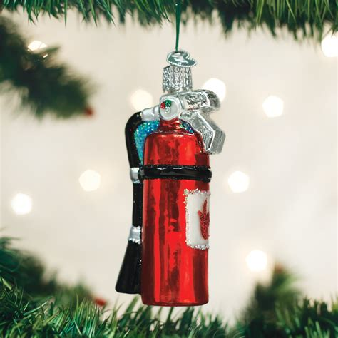 fire extinguisher ornaments fireman firemen christmas
