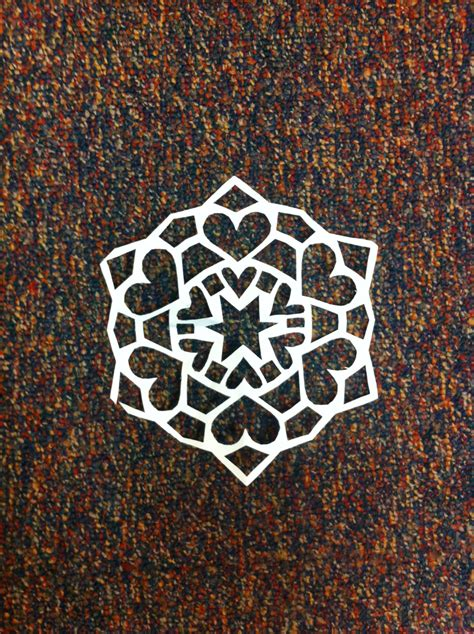 printable heart snowflakes heart snowflake grandma ideas