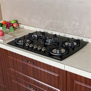 4 Burner Glass Cooktop 30 Quot Black Glass Lpg Ng Built In Kitchen 5 Burner Oven Gas