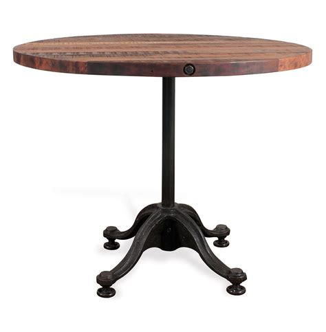 Industrial Bistro Table with Pedro Reclaimed Wood Industrial Bistro Cafe Dining Table Kathy Kuo Home