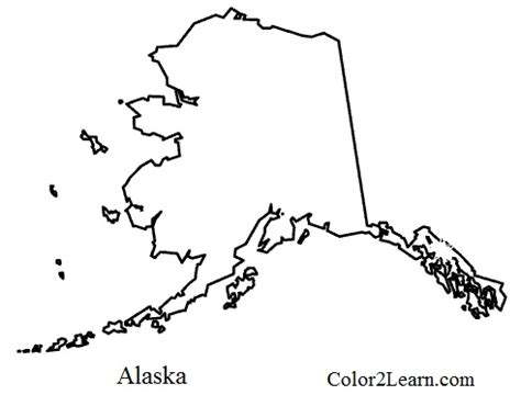 state of alaska flag and map coloring pages