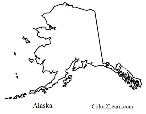 Alaska Map Coloring Page Printable | alaska flag and map coloring pages