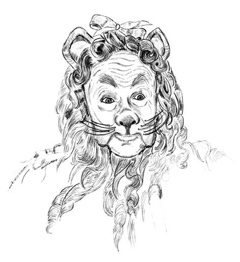 cowardly lion coloring pages wizard of oz drawings characters cowardly lion coloring page