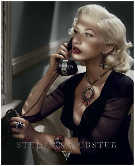 Fab Ad Aguilera For Stephen Webster by Fotos Aguilera Stephen Webster Photoshoot Por