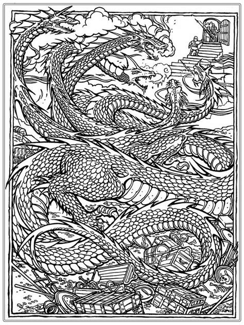coloring pages of chinese dragons chinese dragon adult coloring pages realistic coloring pages