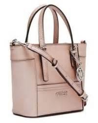 silver leather handbag guess delaney gold mini tote