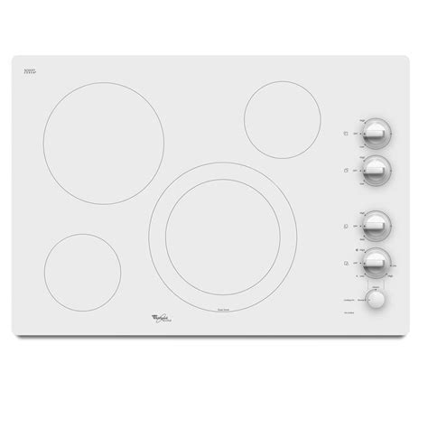 white cooktops shop whirlpool gold smooth surface electric cooktop white
