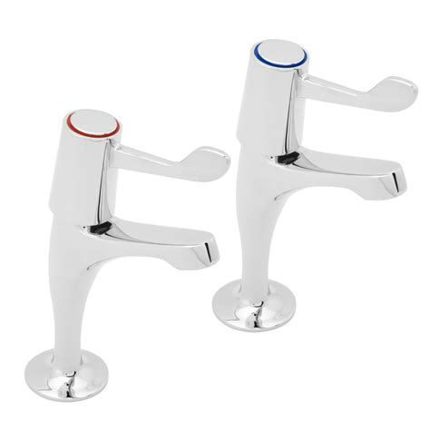 lever kitchen sink pillar taps