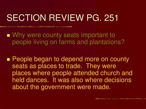 section review ppt chapter 7 the southern colonies powerpoint