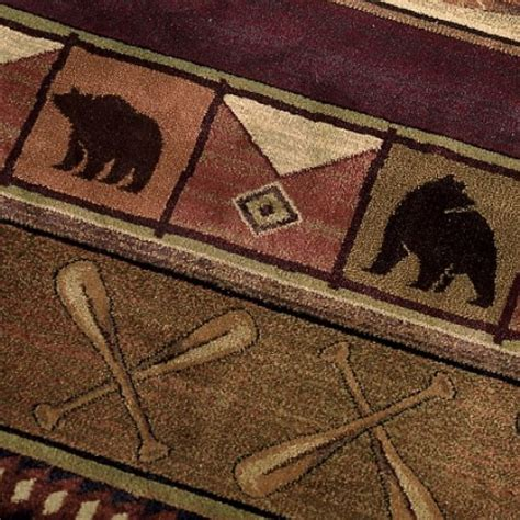 rustic cabin rugs delectably yours colorado lodge area rug collection by united weavers