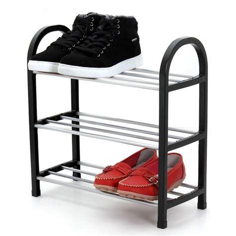 3 tier shoe storage stand black silver 3 tier plastic shoe rack storage organizer