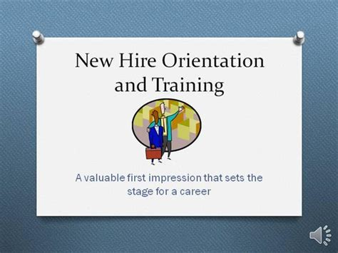 New Hire Orientation And Training Authorstream Orientation Powerpoint Presentation Template