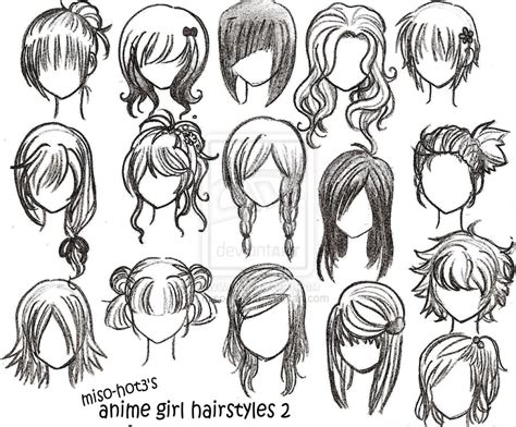 anime hairstyles to draw different anime hairstyles