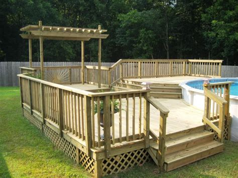 Pool Deck Plans by Above Ground Pool Deck Plans Ideas Manitoba Design