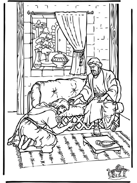 free coloring pages of ananias