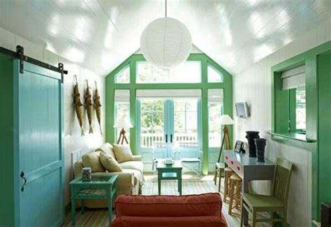 pastel blue and green colors creating tender and airy interior decorating