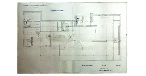villa tugendhat floor plan the digitalization of the archive planning documentation