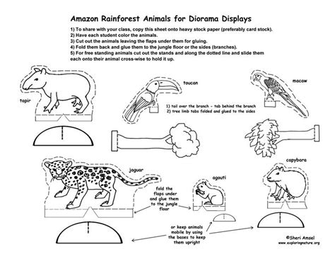 printable trees for diorama free printable animals and trees for rainforest dioramas