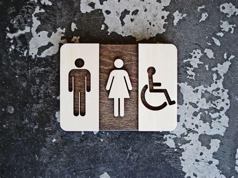modern bathroom signs unisex restroom sign unique bathroom decor modern interior