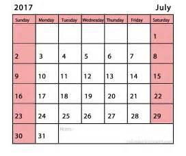 Printable July 2017 Calendar July 2017 Calendar Printable Template Social Ebuzz