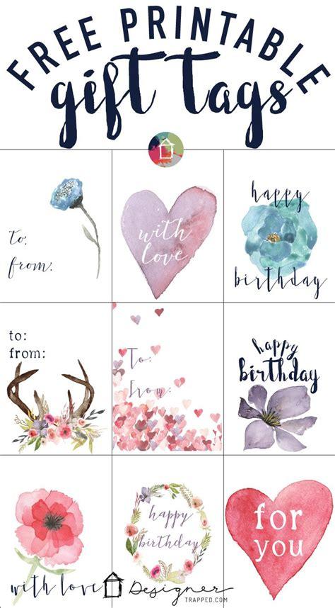 Birthday Favor Tags Printable