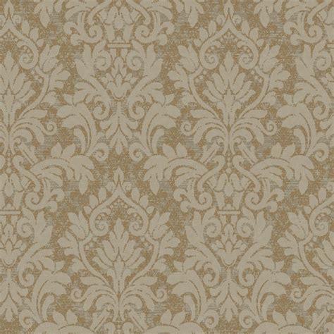 metallic gold layered damask wallpaper