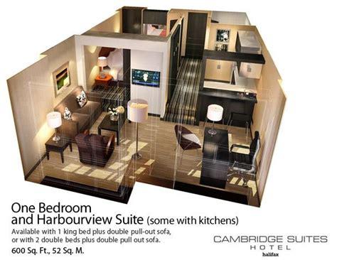 One Bedroom Apartment Plans by Cambridge Suites Halifax Suites