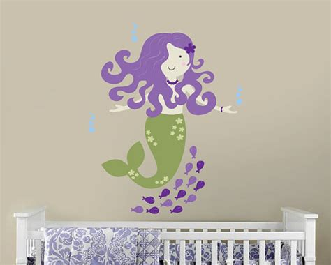 Mermaid Wall Decal For Under The Sea Nautical By The Sea Wall Decals Nursery
