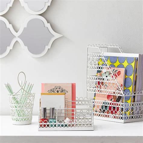 wire desk accessories wire scallop desk accessories pbteen