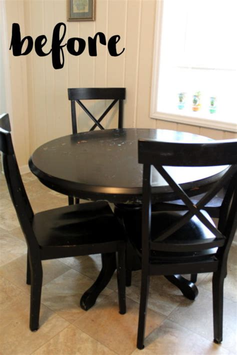 Kitchen Table Update Kitchen Table Makeover Or Rather How I Brightened Up My