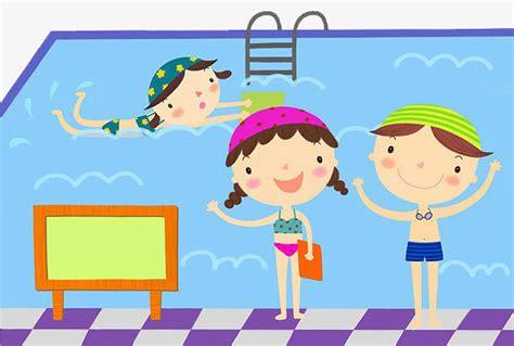 dibujos niños jugando en la piscina los ni 241 os nadar los ni 241 os nadar piscina imagen png para