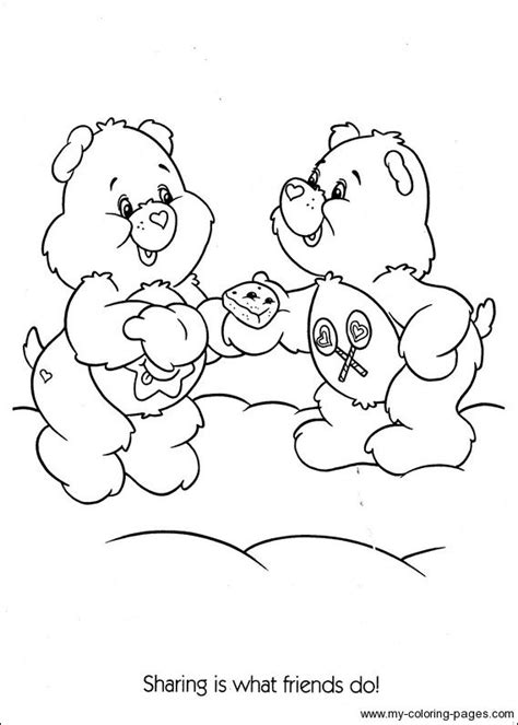 share bear coloring page care bears with ice cream book covers