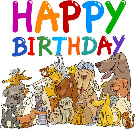 Happy Birthday Clip With Dogs Free by Birthday Clipart